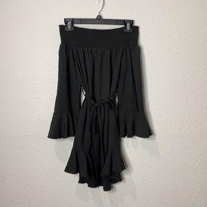 NWT CBR off the shoulder black dress